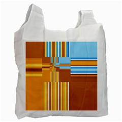 Endless Window Blue Gold Recycle Bag (one Side) by designworld65