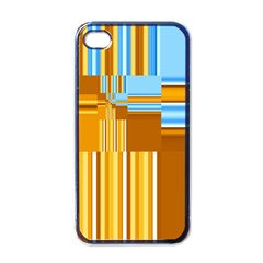 Endless Window Blue Gold Apple Iphone 4 Case (black) by designworld65