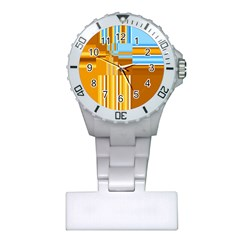 Endless Window Blue Gold Plastic Nurses Watch by designworld65