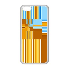 Endless Window Blue Gold Apple Iphone 5c Seamless Case (white) by designworld65