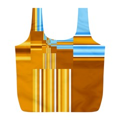 Endless Window Blue Gold Full Print Recycle Bags (l)  by designworld65