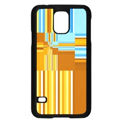 Endless Window Blue Gold Samsung Galaxy S5 Case (black) by designworld65