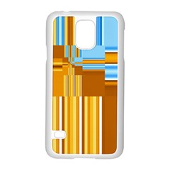Endless Window Blue Gold Samsung Galaxy S5 Case (white) by designworld65