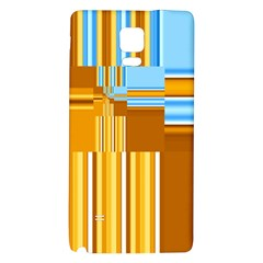 Endless Window Blue Gold Galaxy Note 4 Back Case by designworld65