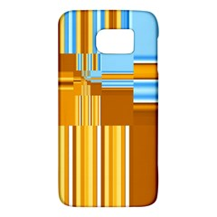 Endless Window Blue Gold Galaxy S6 by designworld65