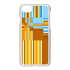 Endless Window Blue Gold Apple Iphone 7 Seamless Case (white) by designworld65