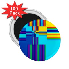 Colorful Endless Window 2 25  Magnets (100 Pack)  by designworld65