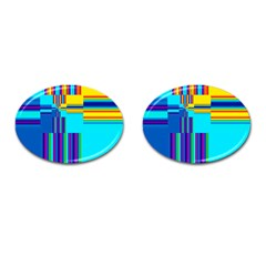 Colorful Endless Window Cufflinks (oval) by designworld65