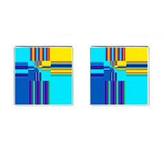 Colorful Endless Window Cufflinks (square) by designworld65