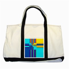 Colorful Endless Window Two Tone Tote Bag by designworld65