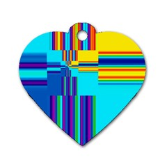 Colorful Endless Window Dog Tag Heart (one Side) by designworld65