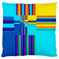 Colorful Endless Window Standard Flano Cushion Case (one Side) by designworld65