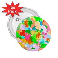 Colorful Summer Splash 2 25  Buttons (100 Pack)  by designworld65