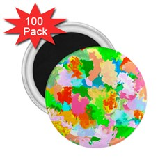 Colorful Summer Splash 2 25  Magnets (100 Pack)  by designworld65