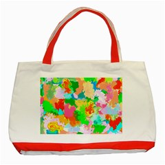 Colorful Summer Splash Classic Tote Bag (red) by designworld65