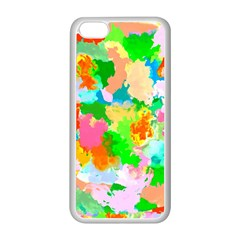 Colorful Summer Splash Apple Iphone 5c Seamless Case (white) by designworld65