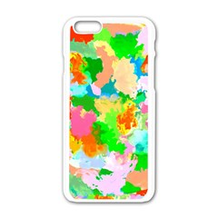 Colorful Summer Splash Apple Iphone 6/6s White Enamel Case by designworld65
