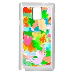 Colorful Summer Splash Samsung Galaxy Note 4 Case (white) by designworld65
