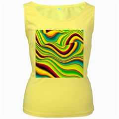 Summer Wave Colors Women s Yellow Tank Top by designworld65