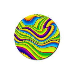 Summer Wave Colors Rubber Coaster (round)  by designworld65