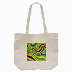 Summer Wave Colors Tote Bag (cream) by designworld65