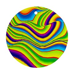 Summer Wave Colors Round Ornament (two Sides) by designworld65