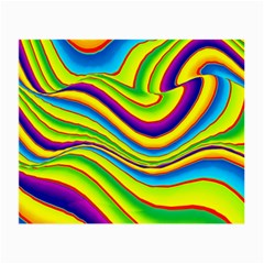 Summer Wave Colors Small Glasses Cloth (2 Side) by designworld65
