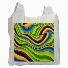 Summer Wave Colors Recycle Bag (one Side) by designworld65
