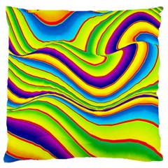 Summer Wave Colors Large Cushion Case (two Sides) by designworld65