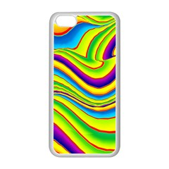 Summer Wave Colors Apple Iphone 5c Seamless Case (white) by designworld65