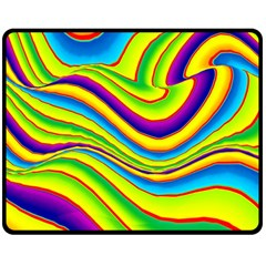 Summer Wave Colors Double Sided Fleece Blanket (medium)  by designworld65