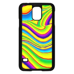 Summer Wave Colors Samsung Galaxy S5 Case (black) by designworld65
