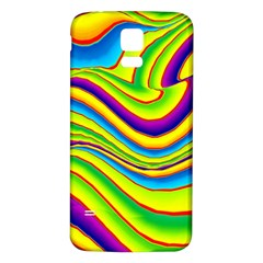 Summer Wave Colors Samsung Galaxy S5 Back Case (white) by designworld65