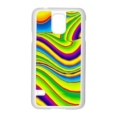 Summer Wave Colors Samsung Galaxy S5 Case (white) by designworld65