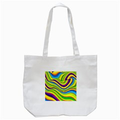 Summer Wave Colors Tote Bag (white) by designworld65