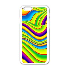 Summer Wave Colors Apple Iphone 6/6s White Enamel Case by designworld65