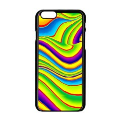 Summer Wave Colors Apple Iphone 6/6s Black Enamel Case by designworld65