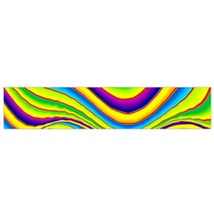 Summer Wave Colors Flano Scarf (small) by designworld65