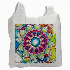 Sunshine Feeling Mandala Recycle Bag (two Side)
