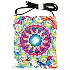 Sunshine Feeling Mandala Shoulder Sling Bags by designworld65