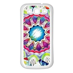 Sunshine Feeling Mandala Samsung Galaxy S3 Back Case (white)