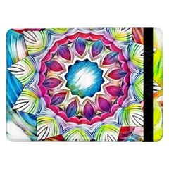Sunshine Feeling Mandala Samsung Galaxy Tab Pro 12 2  Flip Case by designworld65