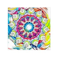 Sunshine Feeling Mandala Small Satin Scarf (square)