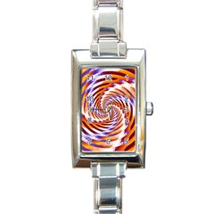 Woven Colorful Waves Rectangle Italian Charm Watch