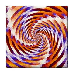 Woven Colorful Waves Tile Coasters