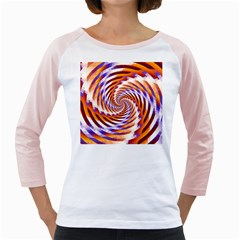 Woven Colorful Waves Girly Raglans