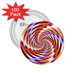 Woven Colorful Waves 2.25  Buttons (100 pack)