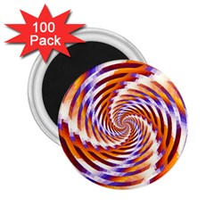 Woven Colorful Waves 2.25  Magnets (100 pack)