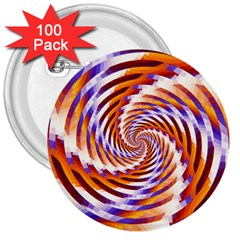 Woven Colorful Waves 3  Buttons (100 Pack)