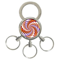 Woven Colorful Waves 3-Ring Key Chains